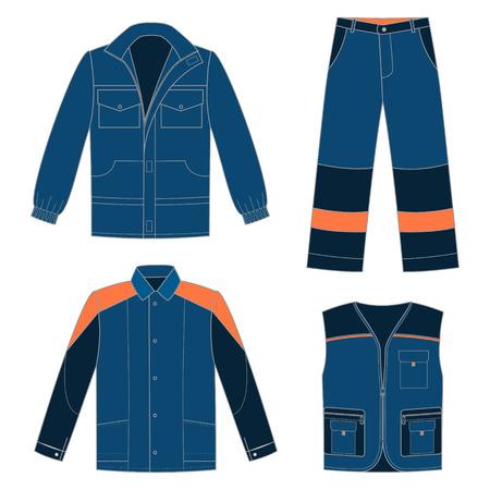 Conjunto de ropa de trabajo de protección para su diseño