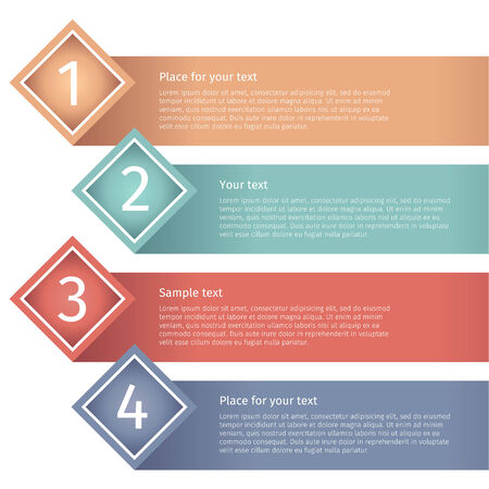 Set of modern infographics option banners. Vector illustration Vector