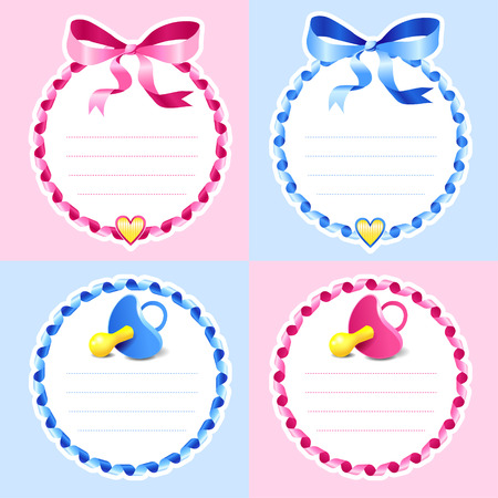 cute baby girls: Set ob cute baby showers for girls and boys