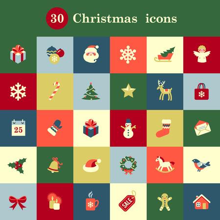 디자인 및 장식 귀여운 크리스마스 아이콘의 집합 스톡 콘텐츠 - 32874274