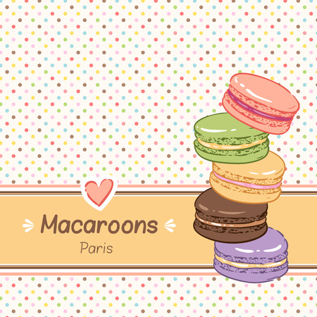 cake stand: Cute background for confectionery. Sweet color macaroons.