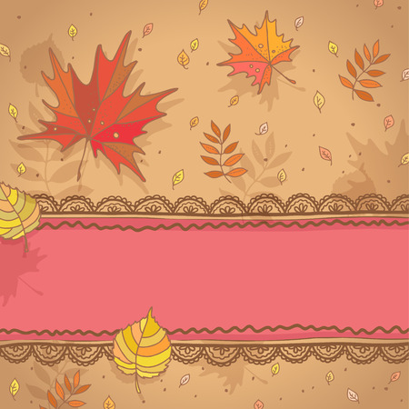 autumn leaves background: Autumn background with falling leaves for your design
