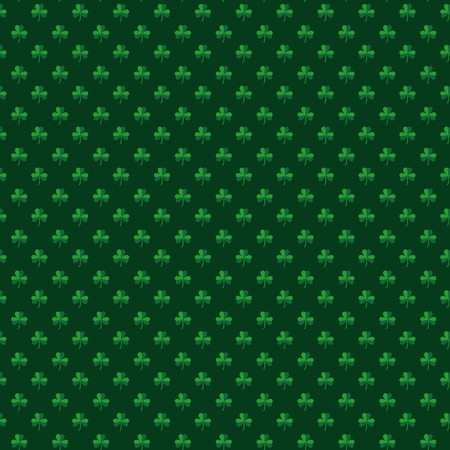 patricks day: Green seamless pattern with shamrocks for St. Patricks day