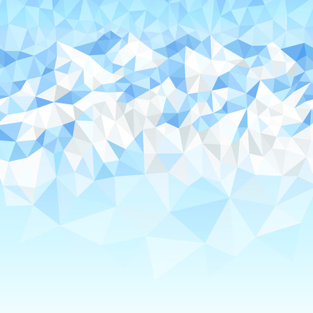 snowcapped: Polygonal abstract background with snow-capped mountains and the blue sky Vectores