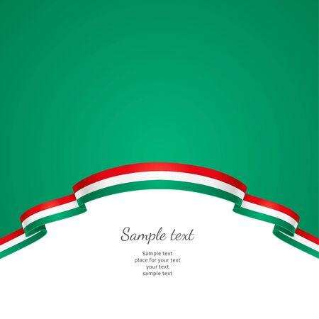 patriotic border: Fondo patri�tico con un borde en forma de una bandera de Hungr�a Vectores