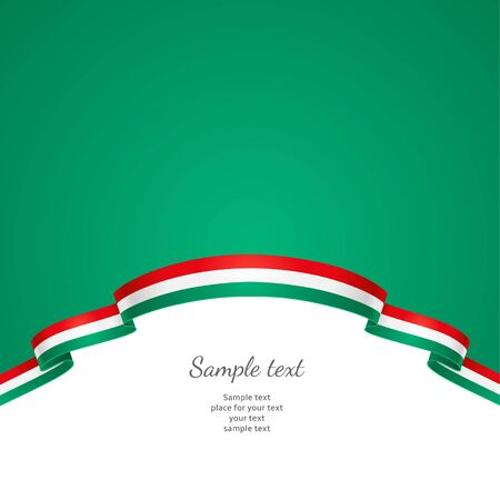 patriotic border: Patriotic background with a border in the form of a flag of Hungary