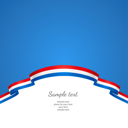 Patriotic background with a border in the form of a flag of Netherlands