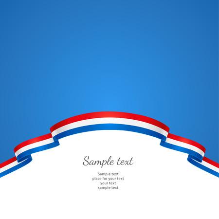 네덜란드의 국기의 형태로 국경과 애국 배경 일러스트