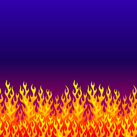 evening sky: Fire at the evening sky. Concept background for your design Illustration