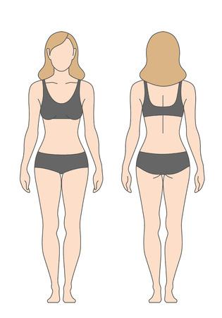 La figura de la mujer en ropa interior aislado en blanco. La plantilla para su diseño Foto de archivo - 48086035