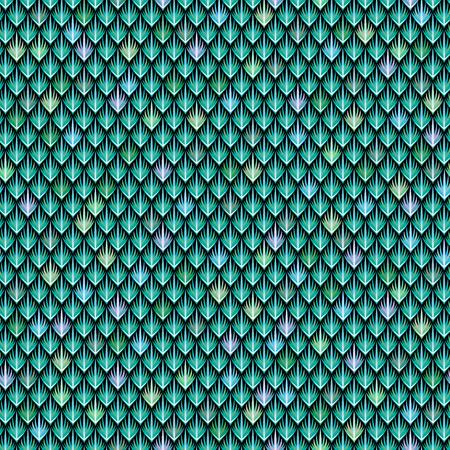 Las escamas del dragón verde. Modelo inconsútil abstracto para su diseño
