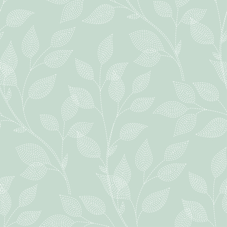 brunches: Decorative brunches on green background. seamless pattern for your design