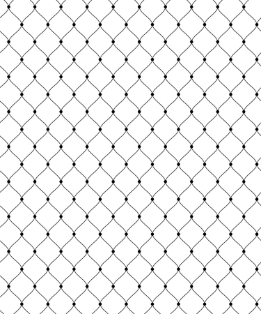 Abstract seamless pattern for textile and design. Simple black lace grid with dots
