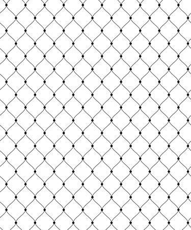 Abstract naadloos patroon voor textiel en design. Eenvoudig zwart kanten rooster met stippen