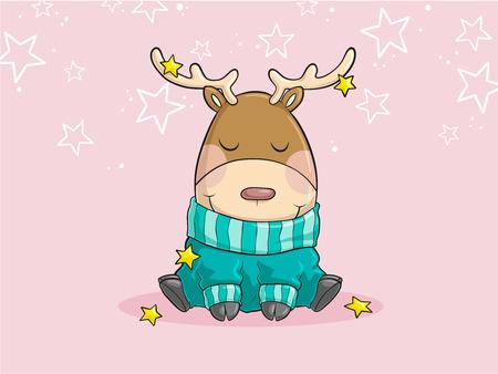 fleecy: Reindeer Christmas reindeer cartoon vector