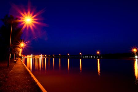 lifeline: Hydro Power plant at night