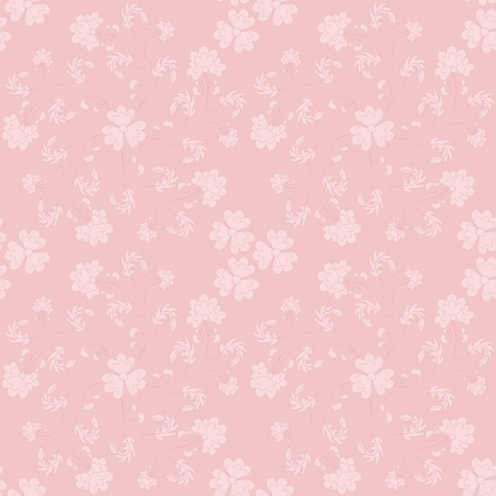 violets: Seamless pink two-tone pattern with violets, swirl in a vortex