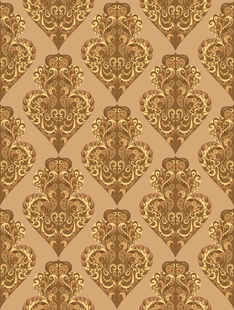 tier: Three Tier shaped oval in the Gothic style in brown palette