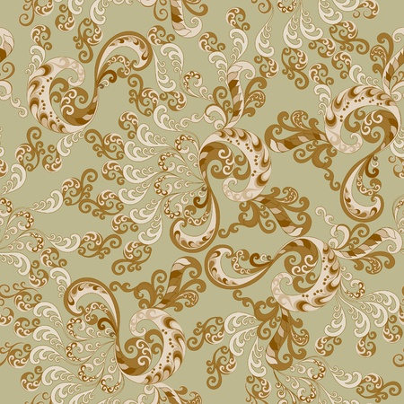 harp pattern in brown and beige gamut on a green background Vector