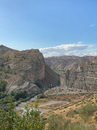 views of the landscape of the Natural Park of the Sierras de Cazorla, Segura y las Villas located in Jaen, Spain. In cloudy day