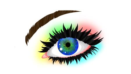 rainbow eye photo