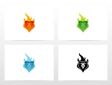 Bear On Fire Logo Design