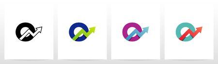 Arrow Chart On Letter Logo Design O Ilustração