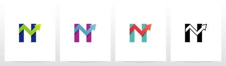 Arrow Chart On Letter Logo Design N Ilustrace