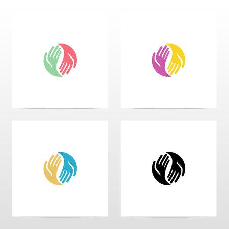 Two Hands Circle Logo Design Logo