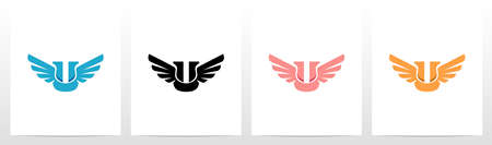 Wings On Letter Logo Design U