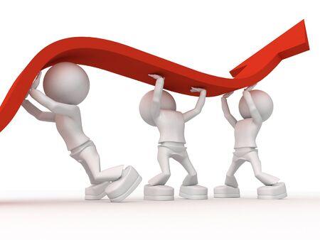 work together: Het is nodig om samen te werken om te winnen van de crisis Stockfoto