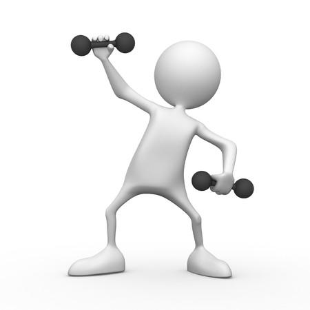 fitness motivation: Matutinal charging. 3d image isolated on white background.