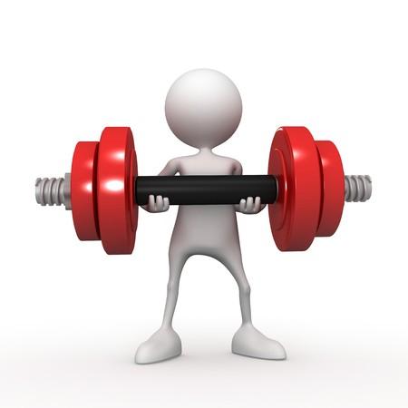 muscle training: Matutinal charging. 3d image isolated on white background.