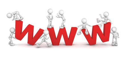 worldwide web: World Wide Web. imagen 3D aislado sobre fondo blanco.