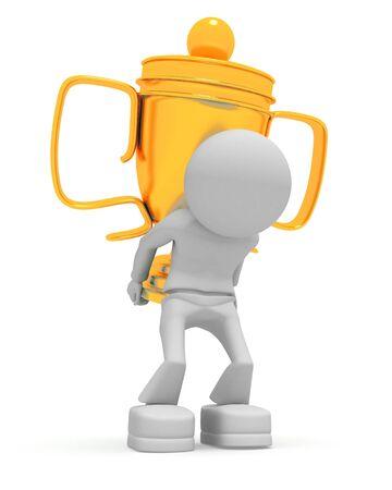 keeps: Worker keeps cup
