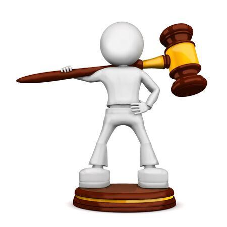 arbitrar: Yunque de la justicia. imagen 3D aislado sobre fondo blanco.