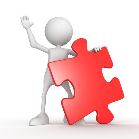 Puzzle. 3d image isolated on white background. photo