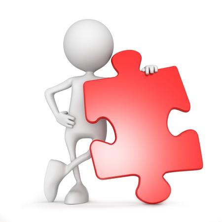 Puzzle. 3d image isolated on white background. Stock Photo