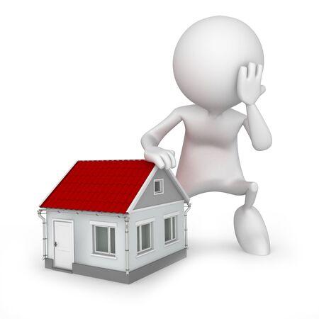 arquitecto caricatura: No voy a ser capaz de ajuste en esta casa.