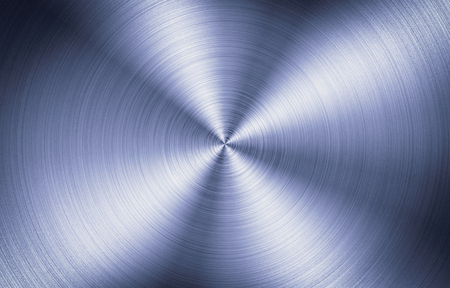 Abstract background of high contrast round texture of brushed metal, steel, aluminium