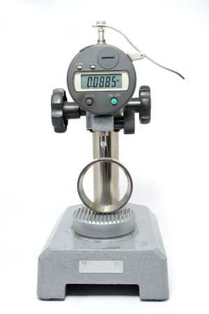 Measuring Equipment Digital Test Gauge Measuring Bearing Shell Isolated Stock Photo