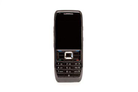 Mobile Phone Black Isolated on White Backround