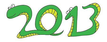 snake year: Snake New Year 2013 Illustration