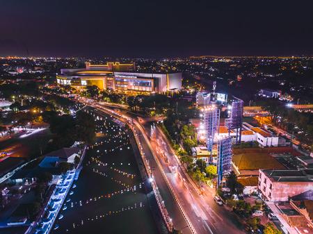 Aerial Night View of Surabaya 報道画像