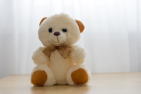 Teddy bear with white background Stock Photo