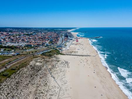 Espinho beach - Porto - Portugal Фото со стока