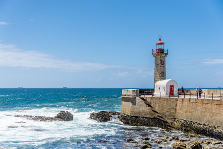 Lighthouse in Porto - Portugal Editorial