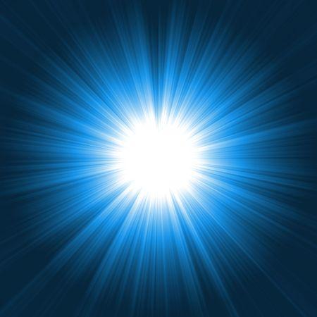glimmend licht burst Stockfoto