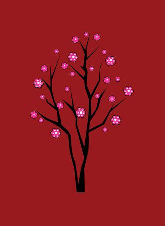 cherry tree in blossom Stock Vector - 5132738