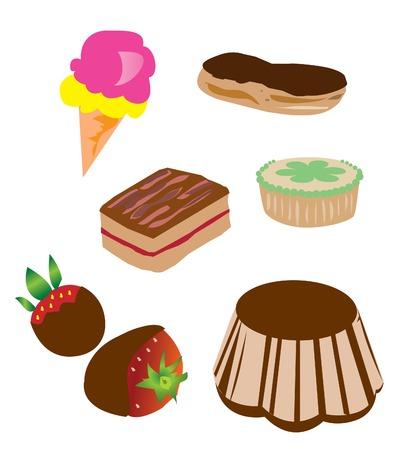 different desserts Illustration
